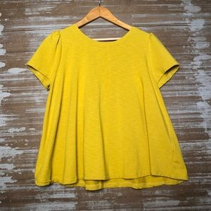 Anthro Eri + Ali Chartreuse Swing Top Size L
